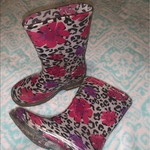 Toddler girl rain boots size 9